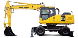 Запчасти для колесных экскаваторов Komatsu (Коматцу)